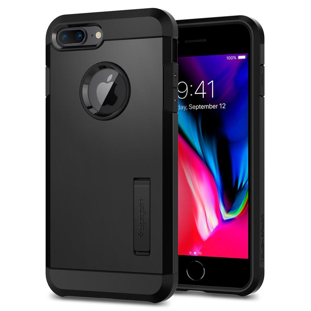 Coque iPhone 8 Plus, Spigen® Coque iPhone 8 Plus / 7 Plus [Tough Armor 2] HEAVY DUTY [Noir] Slim Dual Layer Protective Housse Etui Coque Pour iPhone 7 Plus / 8 Plus - (055CS22246)