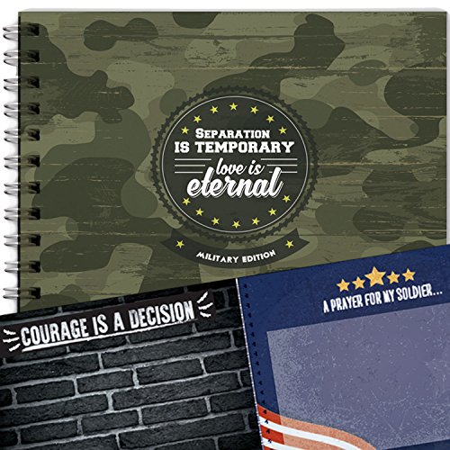 Scrapbook for Military Relationships, Memory book for Couples, Family, Long Distance Relationship. Perfect for Anniversary, Unique Gift and Couple Presents ()