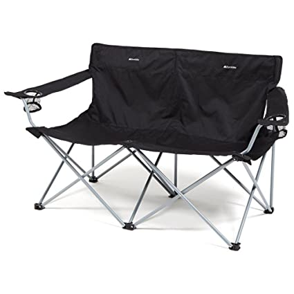 Amazon.com : Eurohike Peak Folding Twin Chair, Black, One ...