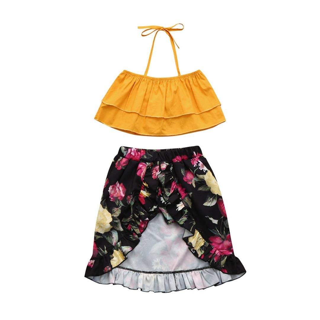 FORESTIME_baby clothes girl SKIRT ベビーガールズ 5-6 years オレンジ B079FKQLQJ