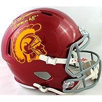 $295 » O. J. Simpson Autographed USC Trojans F/S Speed Helmet w/Heisman - JSA W Auth Yellow
