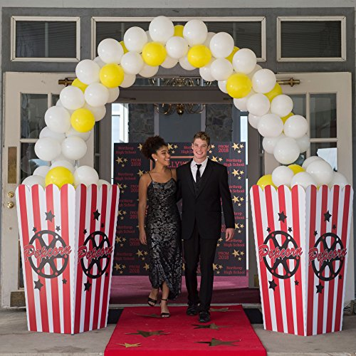 Hollywood Movie Star Popcorn Party Arch Standup Photo Booth Prop Background Backdrop Party Decoration Decor Scene Setter Cardboard Cutout -