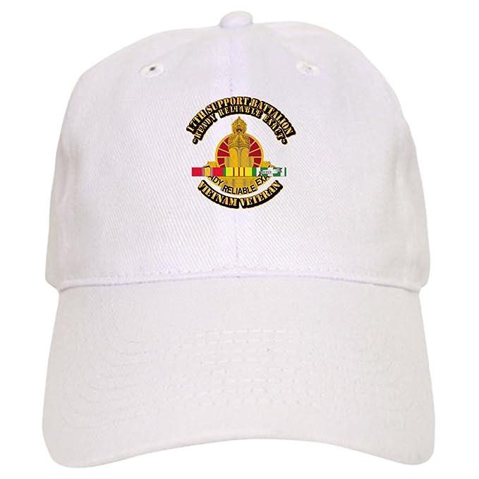 b54372861ae Amazon.com  CafePress Army - 17Th Support Battalion W SVC Ribbon - Baseball  Cap With Adjustable Closure