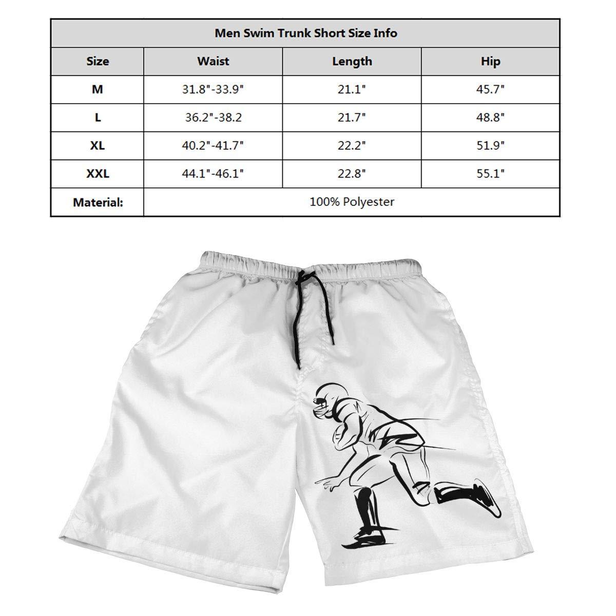 Ling Lake Player of American Football Mens Beach Shorts Board Shorts Summer Swim Trunks