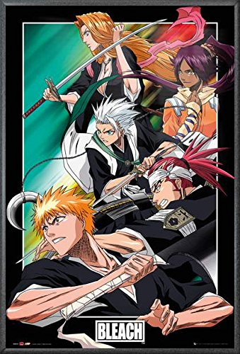 Bleach - Framed Manga / Anime TV Show Poster / Print Character Collage /