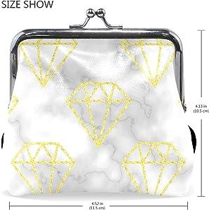 Amazon.com: Diamante brillante patrón de mármol Mini moneda ...