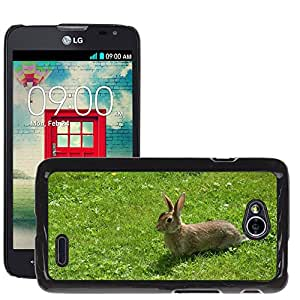 Super Stella Slim PC Hard Case Cover Skin Armor Shell Protection // M00107001 Hare Animal Long Eared Nager Rodent // LG Optimus L70 MS323