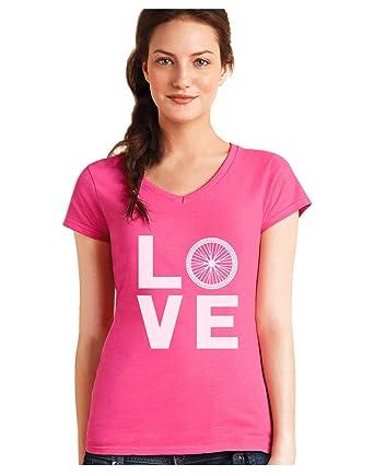 Camiseta de Cuello V para Mujer - - Love Turtles - Regalo ...