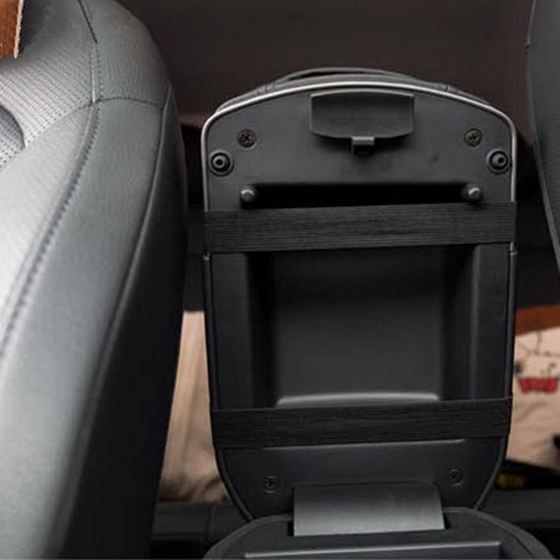 Schwarz Andux Zone Auto Konsole Armlehne Kissen PU Leder Mittelarmlehnen Auflage FSTD-01