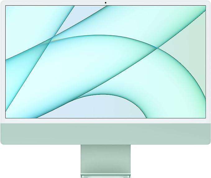 2021 Apple iMac (24-inch, Apple M1 chip with 8‑core CPU and 7‑core GPU, 8GB RAM, 256GB) - Green | Amazon