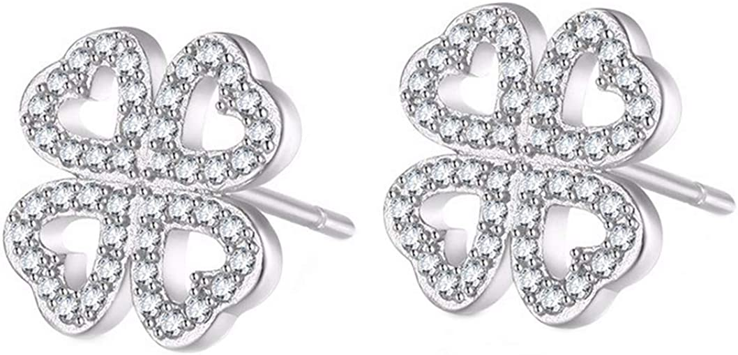 18k Rose Gold EP Brilliant Cut Clear Crystal Fish Hook Dangle Earrings