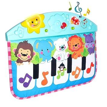 Cn /_ 4 en 1 Bebé Gimnasio Suelo Alfombra Juegos Manta Pedal Piano Musical Patada