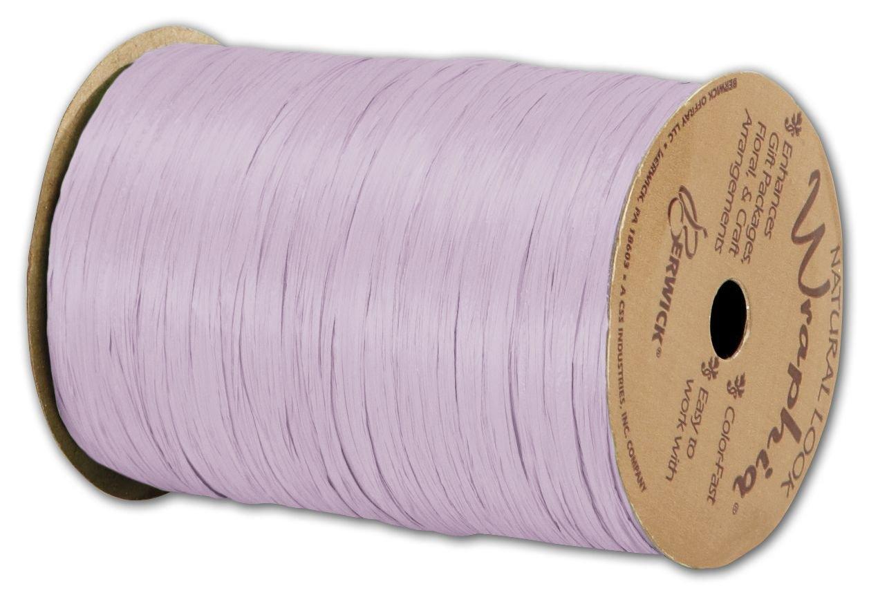 Solid Raffia - Matte Wraphia Lavender Ribbon, 1/4