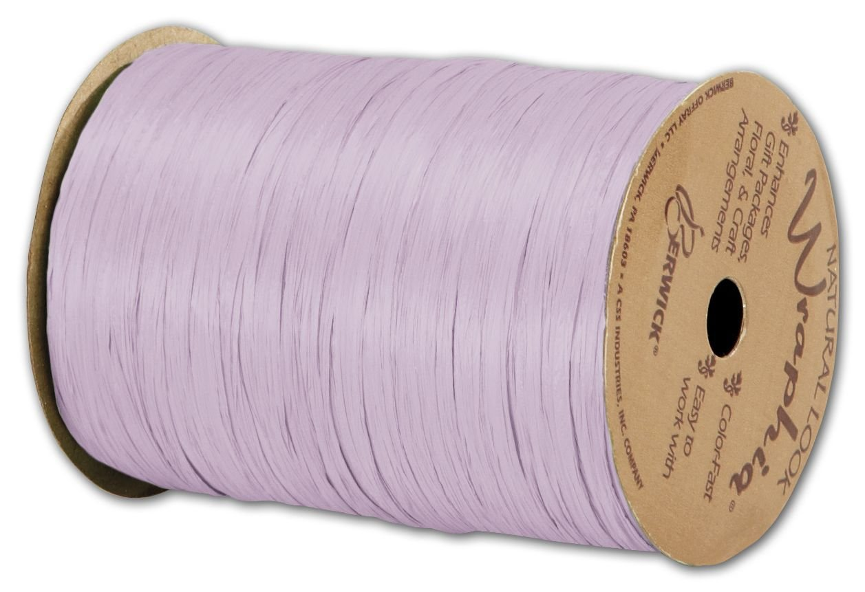 Solid Raffia - Matte Wraphia Lavender Ribbon, 1/4'' x 100 Yds (3/pack) - BOWS-74900-08 by Miller Supply Inc.