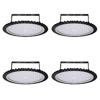 Yuanline 4x 500W UFO Iluminación LED Alta, Lámpara Industrial Ultra Delgada,Lámpara Industrial de