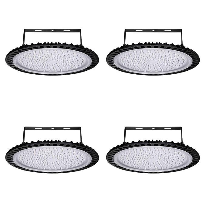 Yuanline 4x 500W UFO Iluminación LED Alta, Lámpara Industrial Ultra Delgada,Lámpara Industrial de Blanco Frío 6000-6500K, 50000Lm,(500W,4Packs): Amazon.es: ...