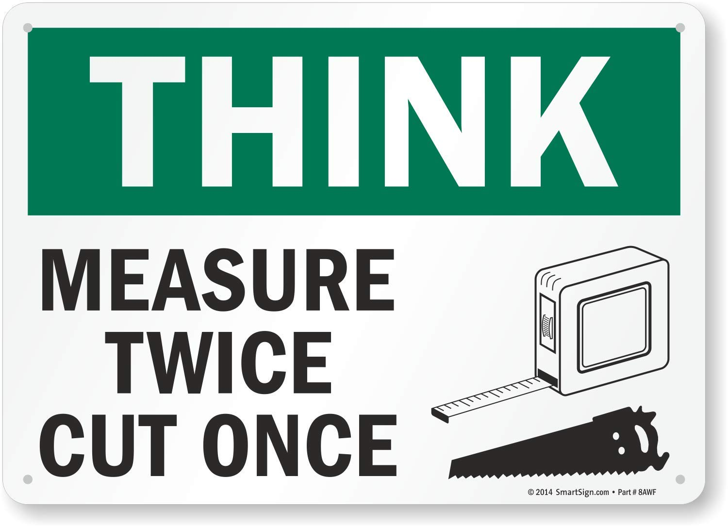Image result for measure once cut twice clip art