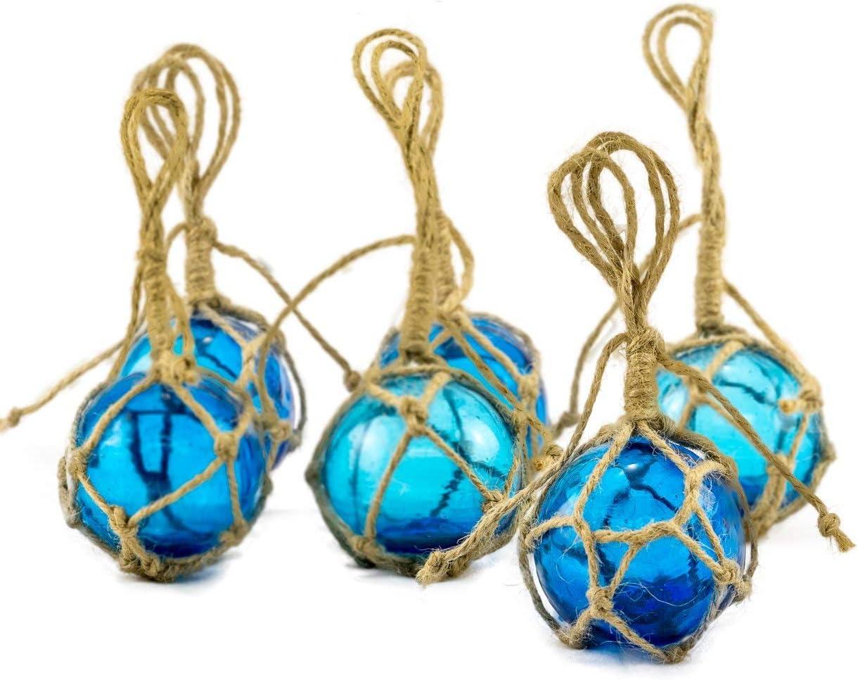 Aqua Glass Float Balls   Fishing Buoy Balls   Perfect for Beach Weddings or as Christmas Ornaments (2