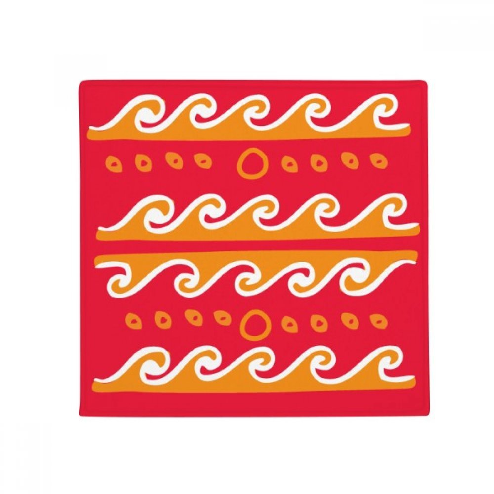 DIYthinker Fire Wave Mexico Totems Ancient Civilization Anti-Slip Floor Pet Mat Square Home Kitchen Door 80Cm Gift