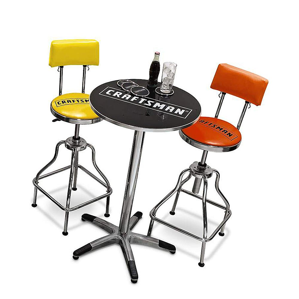 Amazon.com Craftsman Chrome and Vinyl Hydraulic Stool - Comfortable Swiveling Barstool for Home Bar Shop or Garage (Black) Kitchen u0026 Dining  sc 1 st  Amazon.com & Amazon.com: Craftsman Chrome and Vinyl Hydraulic Stool ... islam-shia.org