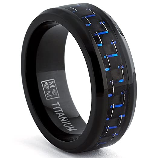 8mm Wedding Ring 31 Perfect Black Titanium Wedding Band
