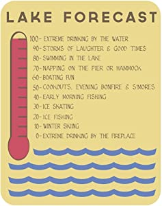 Lake House Lake Forecast Sign, 11 x 14 -Inch