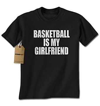 b02648561ec2 Amazon.com  Expression Tees Basketball is My Girlfriend Mens T-Shirt ...