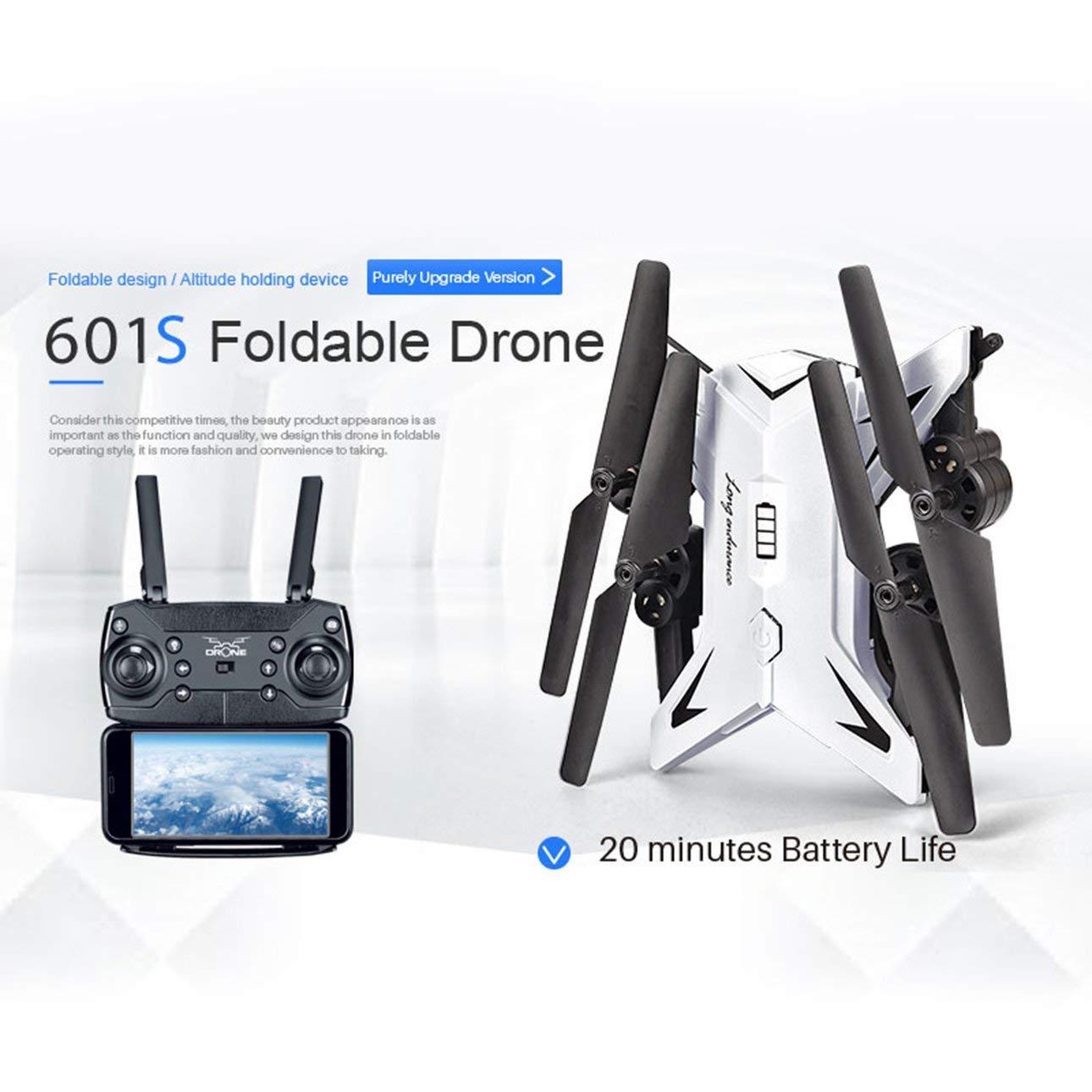 Ballylelly Drohne mit Kamera, KY601S Full HD 1080P 4 Kanal langlebig Faltbare Arm Fernbedienung Quadcopter Kamera Drohne Flugzeuge
