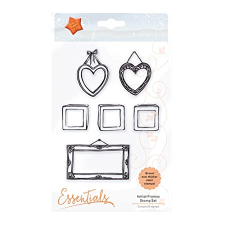 Tonic Studios Initial Frames Stamp Set, Rubber, Black/Clear, 22 x ...