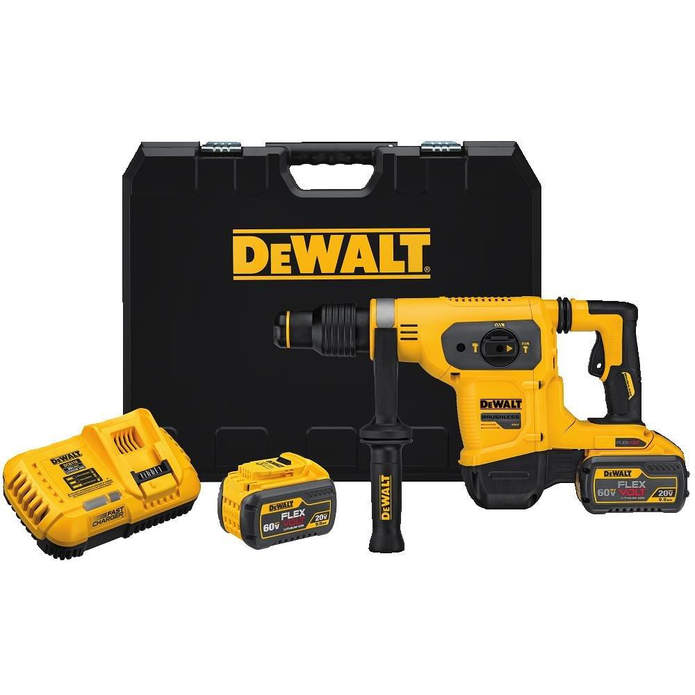 """DEWALT DCH481X2 SDS MAX 60V 1-9/16"""" Combination Hammer Kit"""