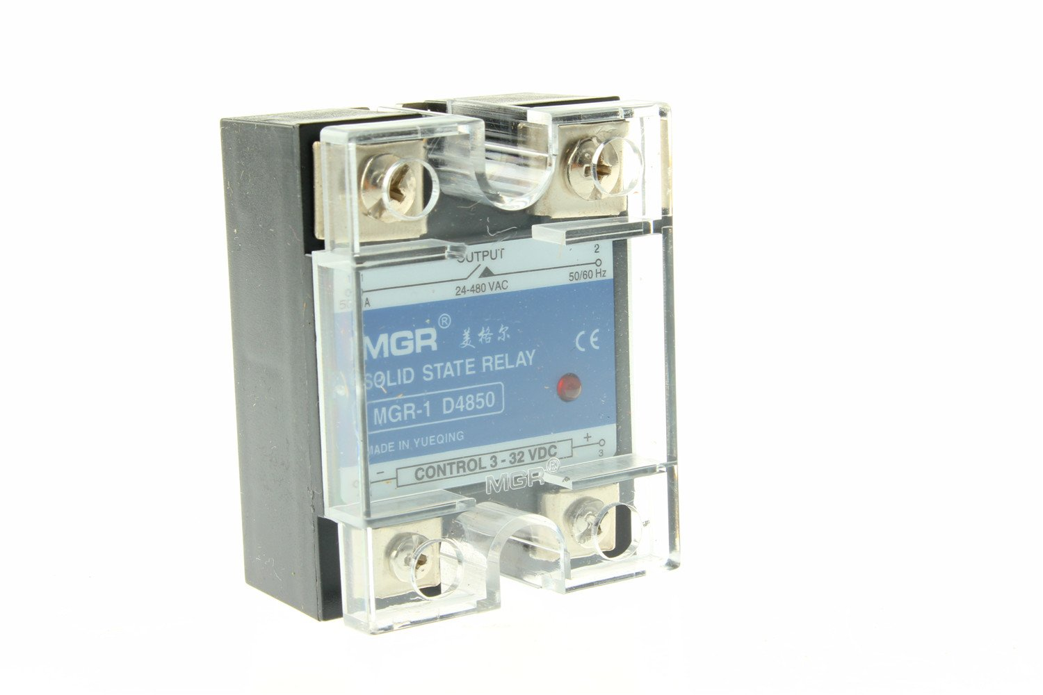 Us Stock 50a Solid State Relay Ssr Dc Ac Input 3 32v Load 24 480v