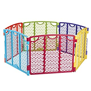 Versatile Play Space, Indoor & Outdoor Play Space, Portable, 18.5 Square Feet of Enclosed Space, Multi-Color
