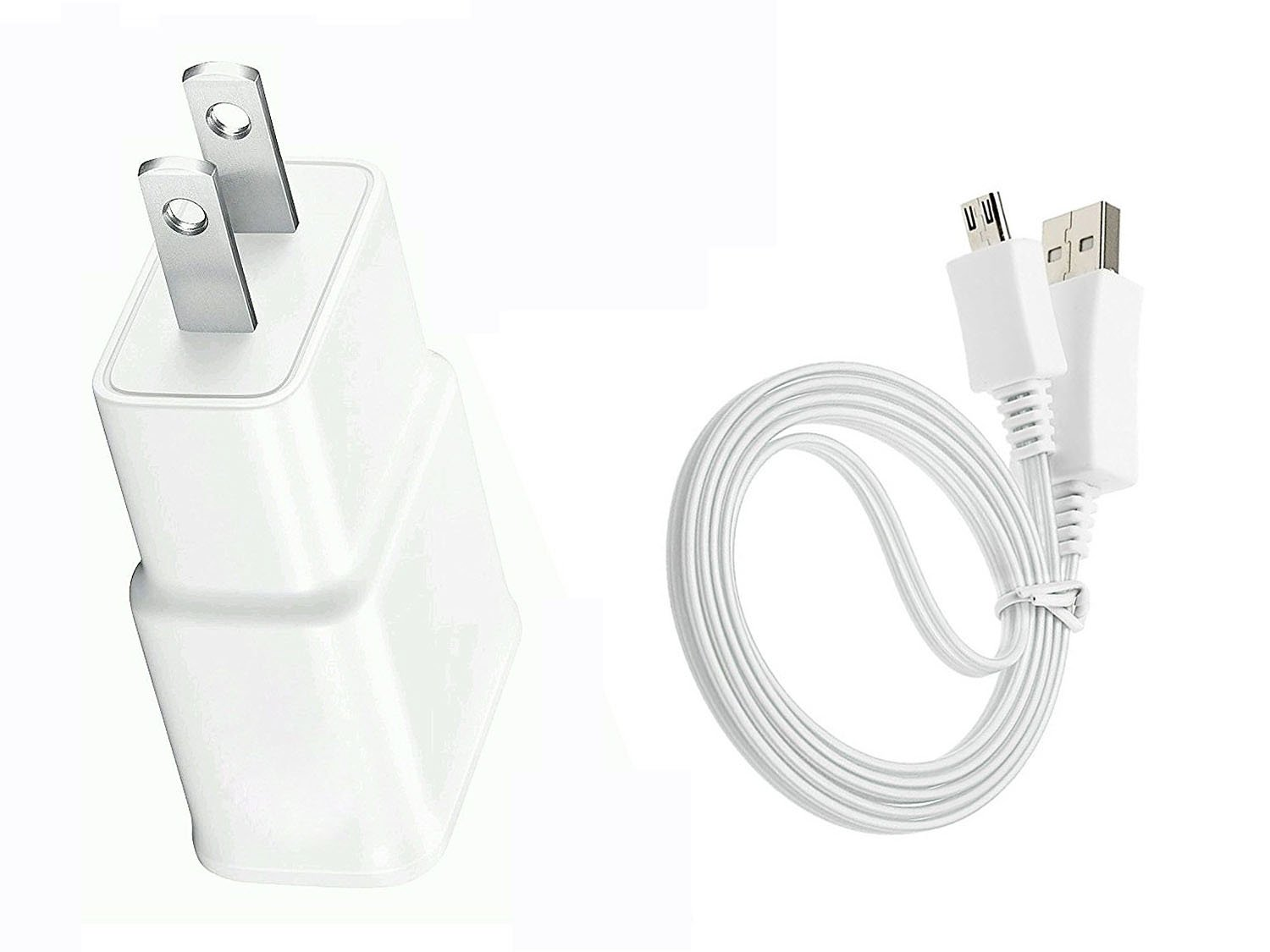 3FT USB AC DC Adapter+Power Charger Cord Cable For Samsung Galaxy Tab 3 4 7.0 8.0 10.1 Tablet White by JNSupplier