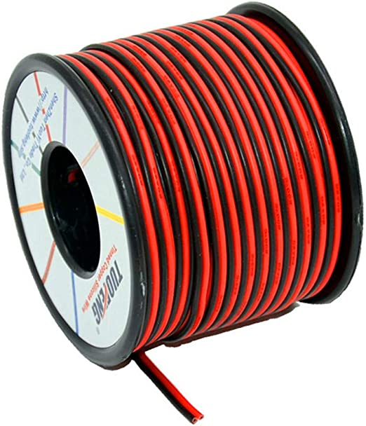 20 AWG Gauge Silicone Wire Spool Black 100 ft Fine Strand Tinned Copper