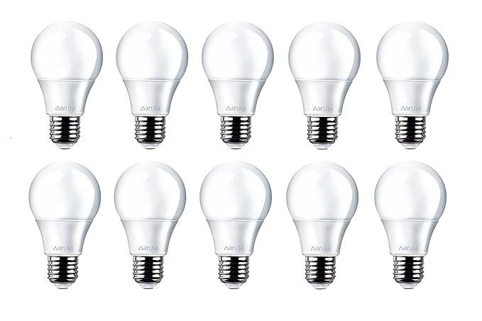 10 paquetes de 10 W cómoda brillante bombilla LED, A60, E27, rosca Edison