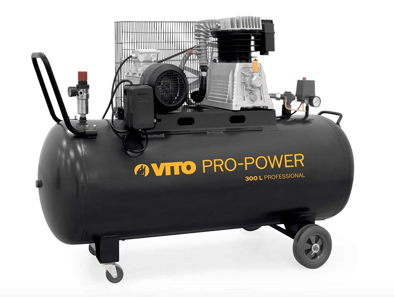 300L Kompressor VITO Professional 300 Liter Kompressor 4PS 10 bis 15 bar max 3000W Druckluftkompressor mit /Ölschmierung 400L//Min