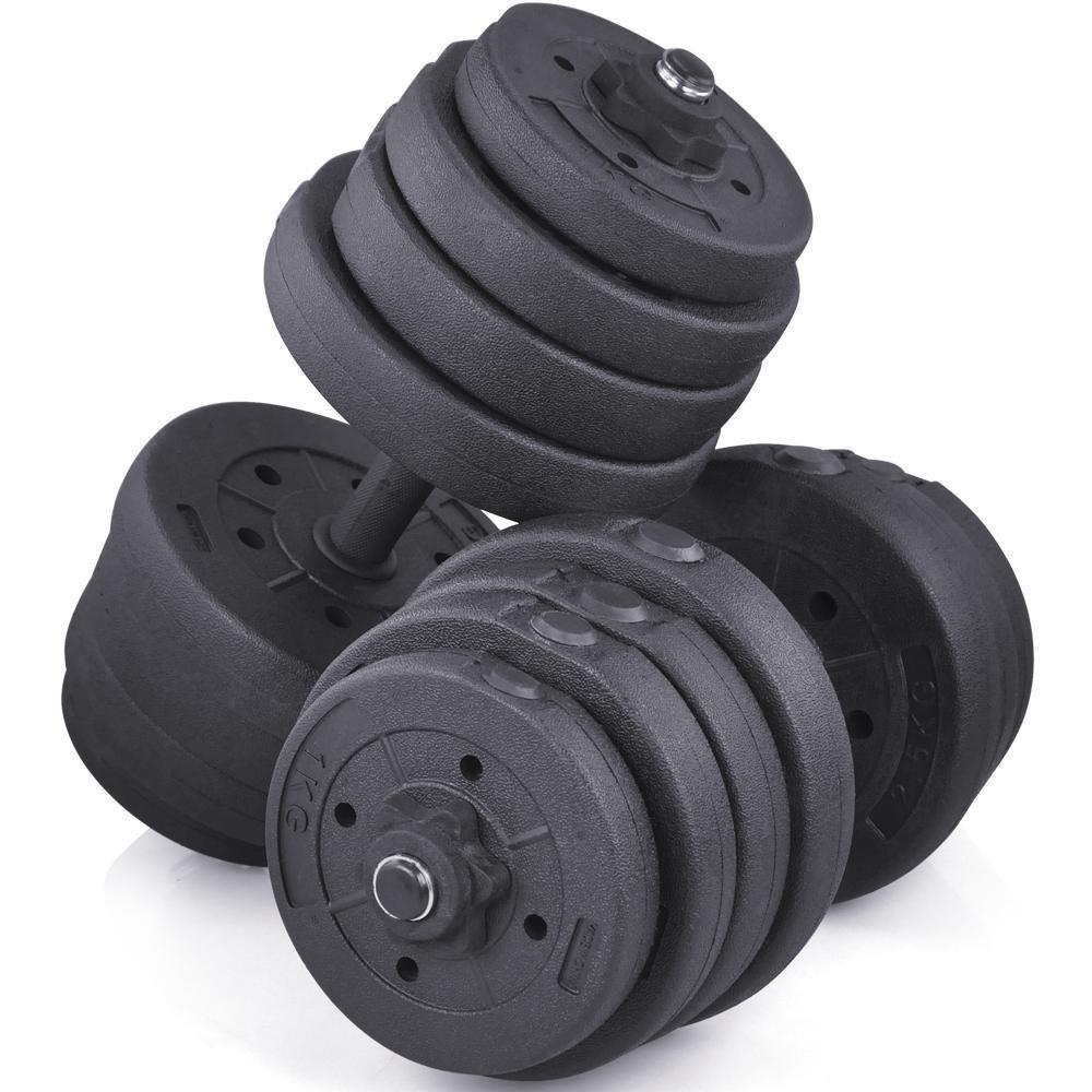 yaheetech 66 kg juego de mancuernas para bíceps ejercicio Fitness musculación cuerpo edificio: Amazon.es: Deportes y aire libre