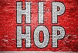 Laeacco HIP HOP Graffiti Red Brick Wall Backdorp 7x5ft Photography Backgroud USA 80s Pop Culture Rap Music Graffiti Art Performance Aged Colloquialism Saying
