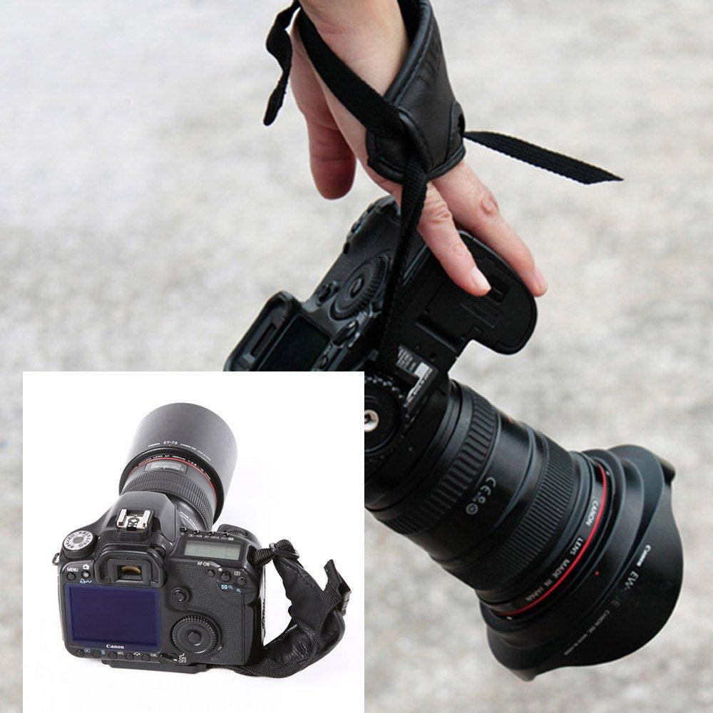Andoer Correa para la muñeca de la PU Apretón de la mano Accesorios de Fotografía para Nikon Canon Sony Cámara 3MQ489