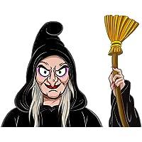 Halloween Car Decals Sticker Wiper Sticker Witch Demon Car Window Sticker Waving Wiper for Halloween Car Decoration