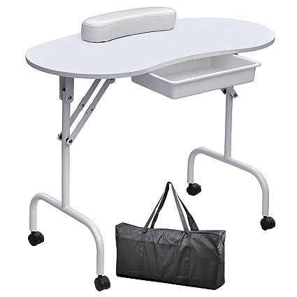 chinkyboo - Mesa portátil de manicura, mesa de trabajo con bolsa y ...