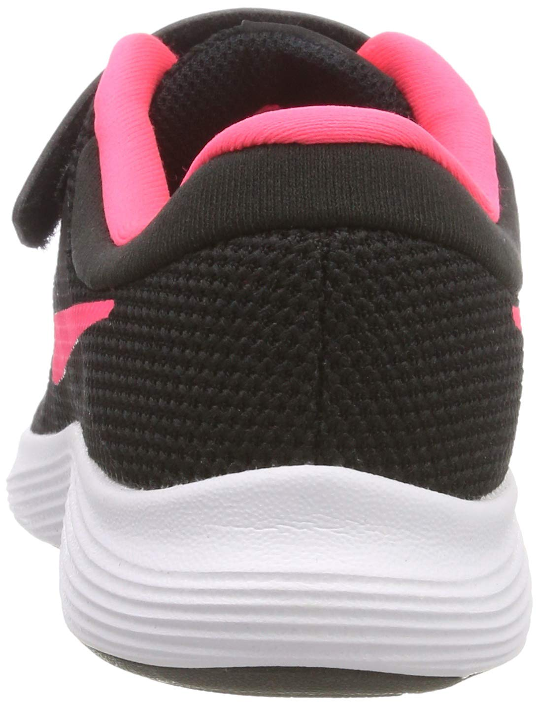 Nike Girls' Revolution 4 (PSV) Running Shoe, Black/Racer Pink - White, 12C Regular US Little Kid by Nike (Image #2)