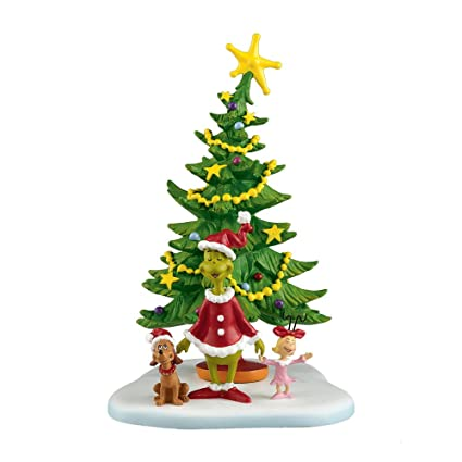 department 56 grinch villages welcome christmas day accessory figurine 5625 inch 4024836 - Grinch Christmas Decorations Amazon