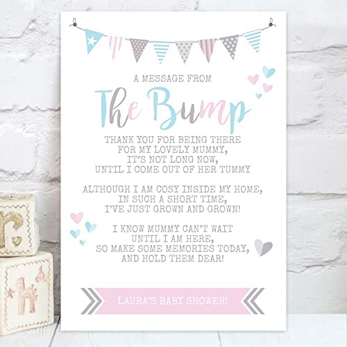 Personalised Baby Shower QuotA Message From The Bumpquot Poem