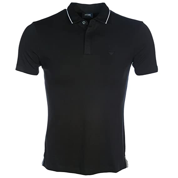 db695f3e Armani Jeans Tipped Polo Shirt in Black 2XL: Amazon.co.uk: Clothing