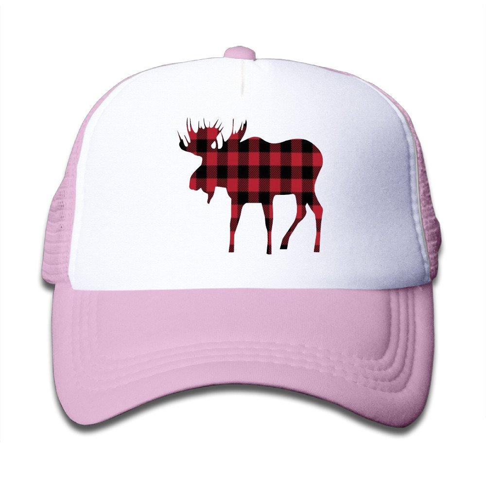 30ee5dd192c Kids Mesh Adjustable Buffalo Plaid Moose Red Black Cap Hat World at Amazon  Men s Clothing store