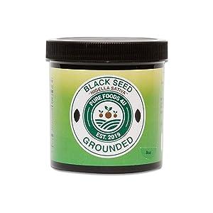 Pure Foods 4U 100% Natural Ethiopian Ground Black Cumin Seed (Nigella Sativa/ Black Caraway),Non-Irradiated   Anti Inflammatory   Immune Booster (4OZ)