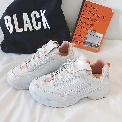 NAFTY Zapatos De Mujer Zapatos Zapato Blanco para Mujer Marca Plataforma Zapatilla de Deporte Dama Otoño