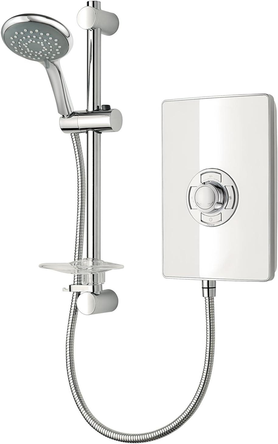 Triton Showers Aspirante Collection II Contemporary Electric Shower, White Gloss, 8.5 KW