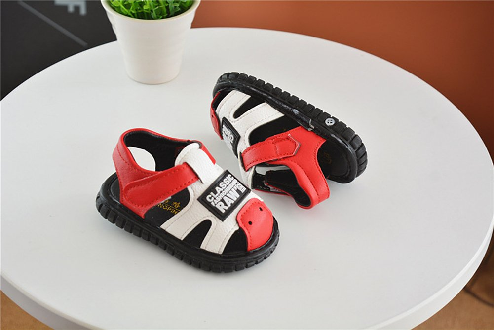 Robasiom Baby Squeaky Shoes Squeaky Sandals Anti-Slip First Walkers for Toddler Boys Girls,Red by Robasoim (Image #4)